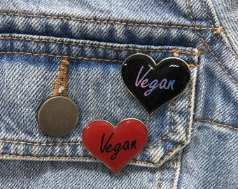 Vegan Enamel Pin | Plant Lover | Pin Badge