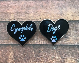 Cynophile, Dog Lover Enamel Pin | Dog Paw | Pin Badge