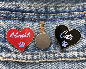 Ailurophile, Cat Lover Enamel Pin | Cat Paw | Pin Badge