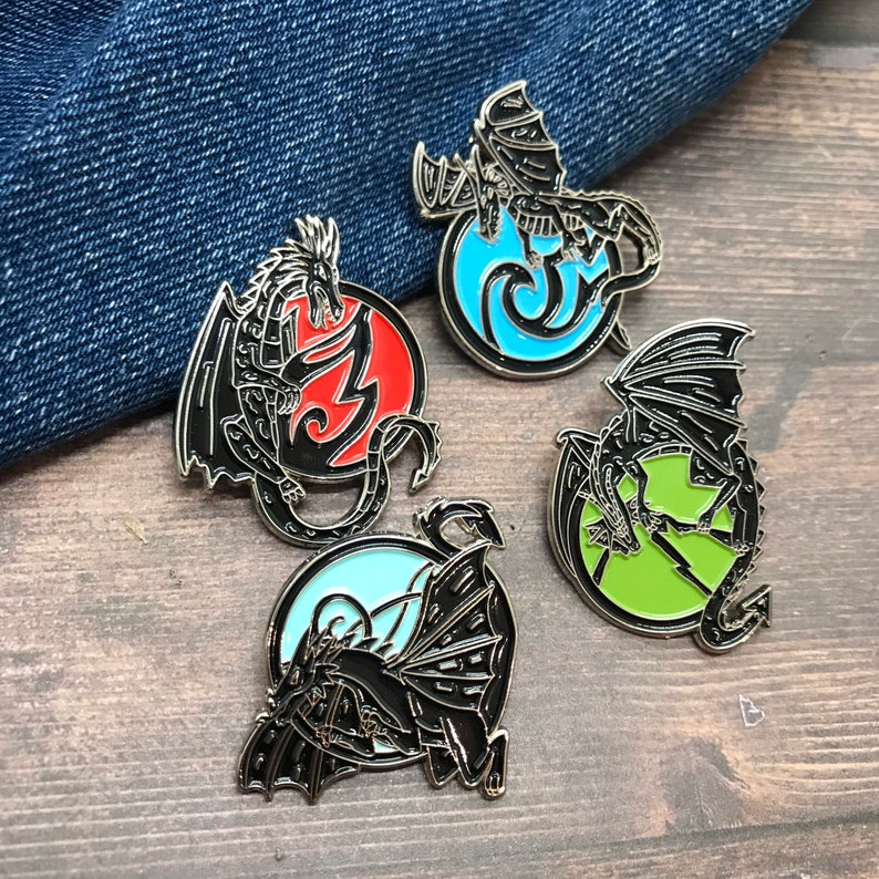 Earth Dragon Elements Inspired NEEDLE MINDER Individual or Set | Air Water Fire
