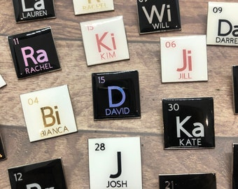 Personalised Periodic Table Element Enamel Pin   Customised