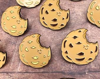 Chocolate Chip Cookie Enamel Pin   Lapel Pin, Badge  