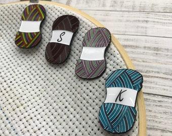 Personalisable Yarn Knitting Needle Minder | Needle Nanny Sewing, Knitting, Craft |