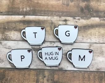 Custom Mug Enamel Pin | Coffee Tea Lover Gift