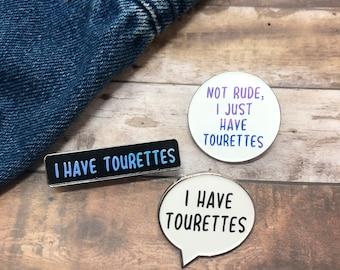 Tourettes Awareness Enamel Pin   Customise Your Own Enamel Pin Badge
