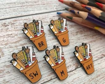 Customisable Art Pot | Artist, Illustrator, Painter | Lapel Pin, Badge |