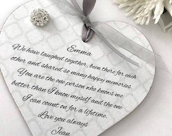 Personalised Friend/Friendship Heart Gift Keepsake