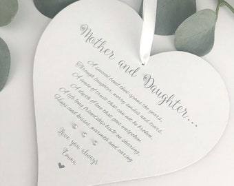 Mother And Daughter Heart Gift Keepsake Wedding Birthday Occasions P0098