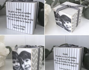 Personalised Daddy. Photo Cube