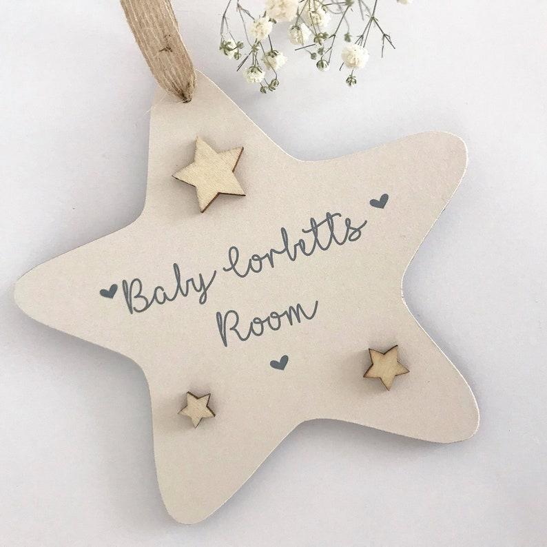 Baby girl hanging shabby chic plaque christening gift baby shower gift