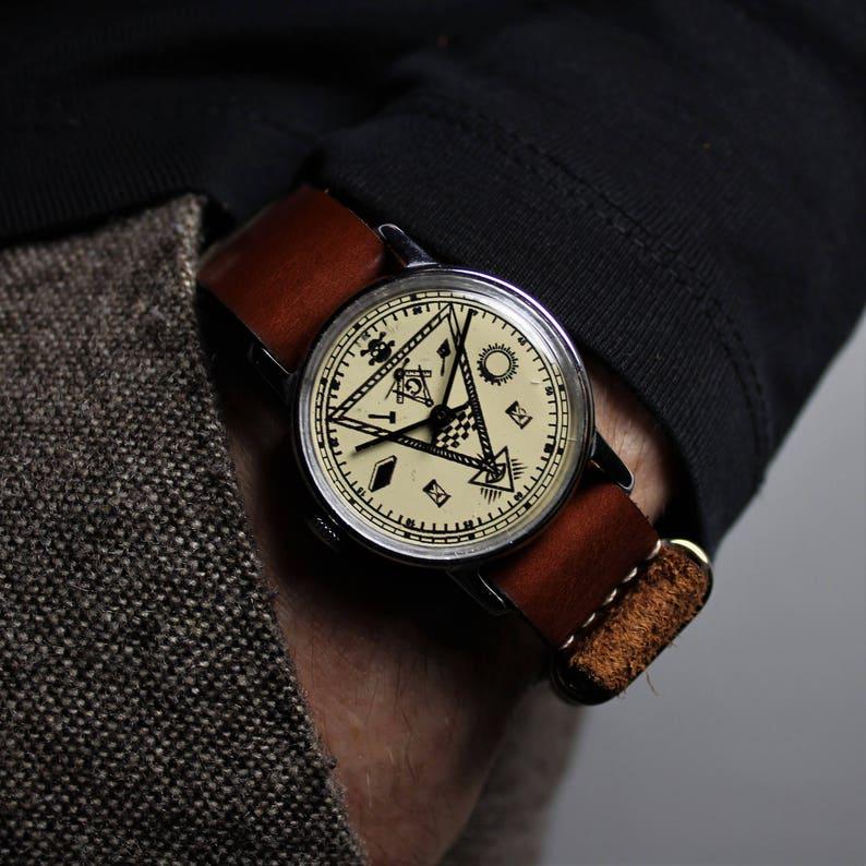 Masonic watch, mens watch, vintage watch, russian watch, mechanical watch,  soviet watch, ussr watch, mens wrist watch, watches for men