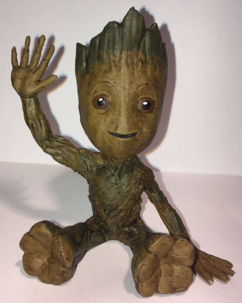 2ae7aabf5 Guardians of the Galaxy Baby Groot 3D Printed and Hand Painted | Etsy