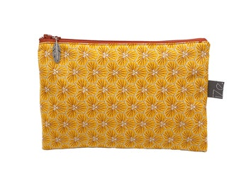 Small waxed cotton pouch