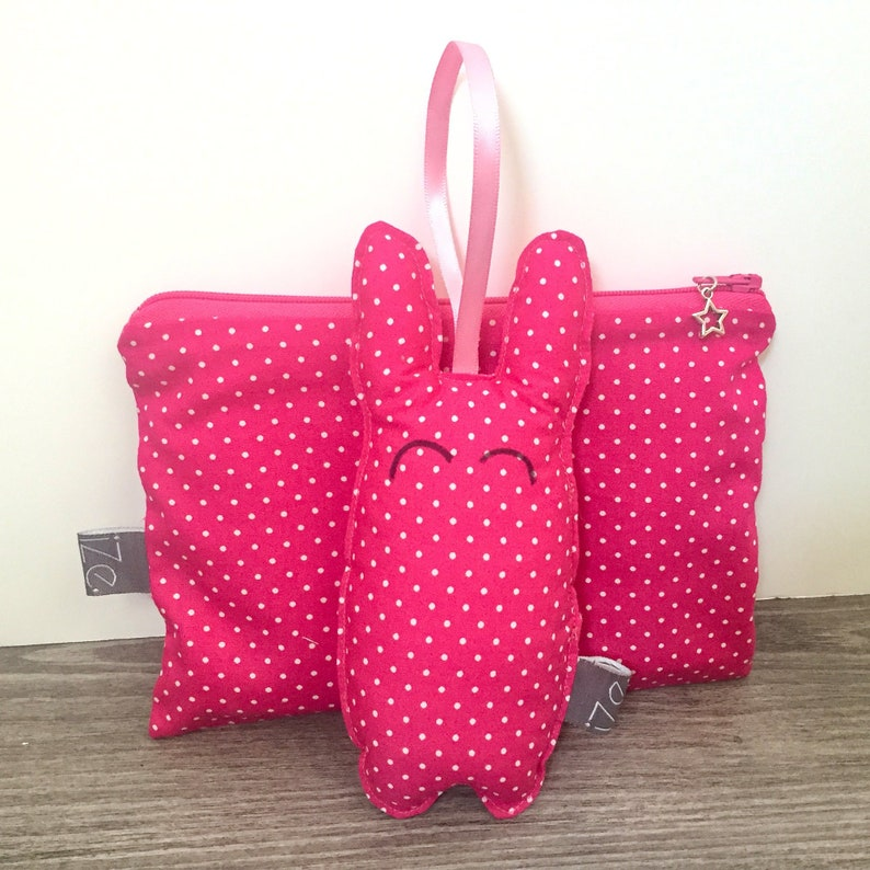 Pink clutch and mini rabbit image 0