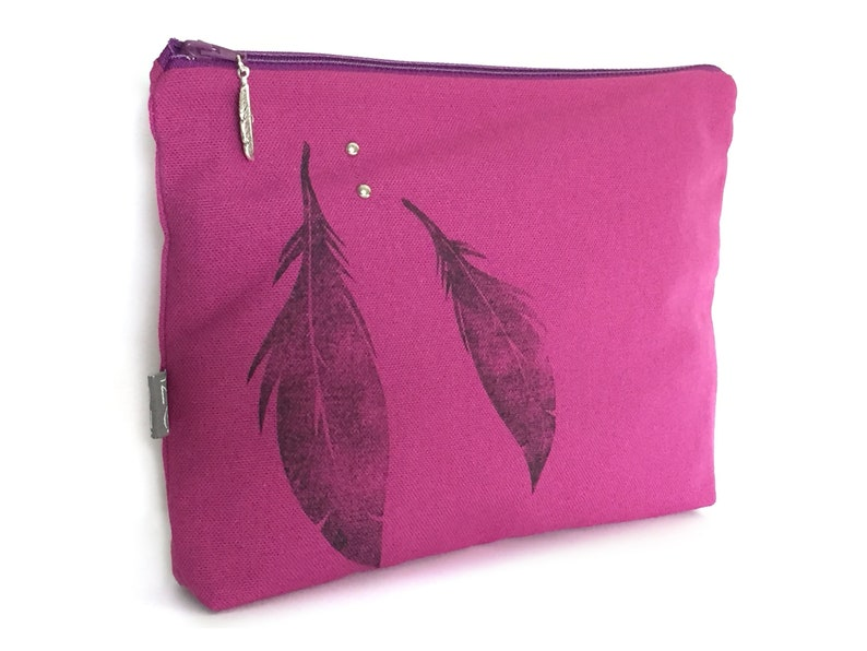 Amethyst feathered clutch image 0