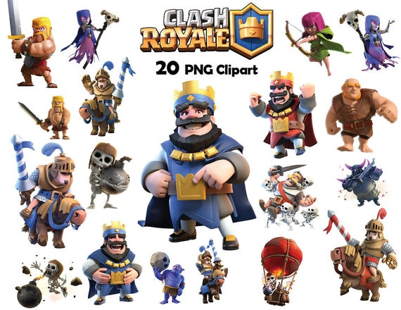 20x Clash Royale Clipart Png Digital File Non Personalized Birthday Party Instant Download