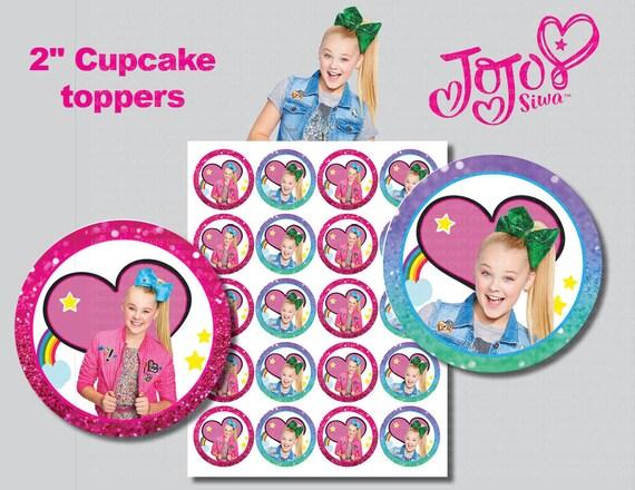 Jojo Siwa Cupcake Toppers Printable Digital File Non Etsy