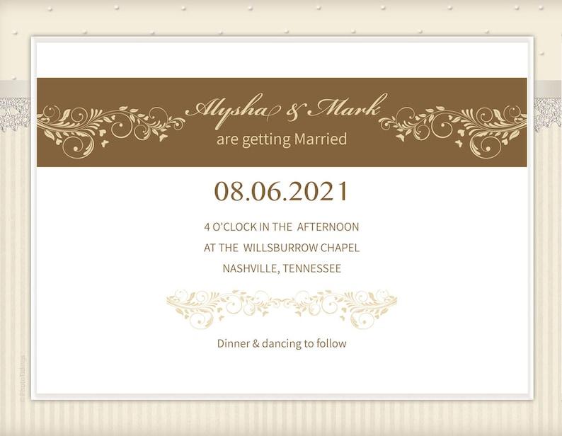 Printable Jewish Wedding Invitation Template Nature Style