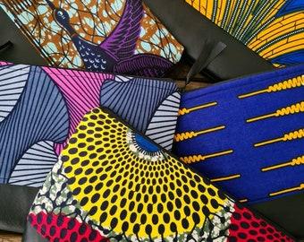 Large African Wax Print Wash Bag, Toiletries Bag