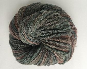 Handspun Hand dyed Yarn, Jacob fiber, Grunge Girl