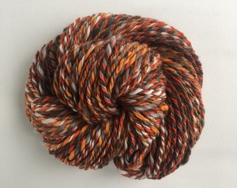Handspun Yarn, Merino fiber, Fantastic Mr Fox.