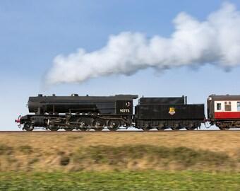 90775 'The Royal Norfolk Regiment' on the North Norfolk Railway Canvas Print