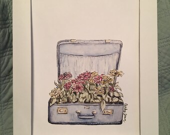 Suitcase (Print) - 6x8in