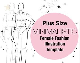 Fashion Illustration Templates | Female Fashion Figure Templates Etsy