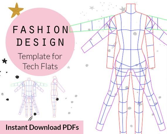 Female Croquis Fashion Design Templates Figure Illustration Prints