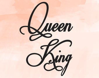 His Queen Her King Svg.Her King Svg His Queen Svg King And Queen Svg Svg Design Etsy