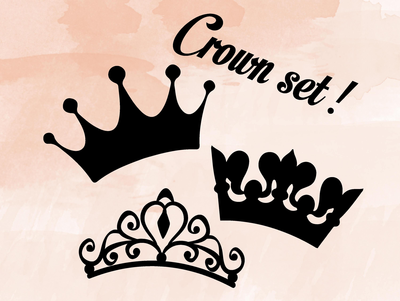 Her King Svg His Queen Svg King And Queen Svg Svg Design: Crown SVG Bundle Princess King Mardi Gras Tiara Cut Files