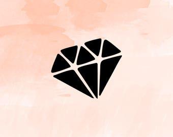 Diamond Svg, Diamond cut file, Diamond Clipart, Diamond DXF, Diamond Silhouette, Diamond Cricut, Engagement SVG Files, diamond svg file