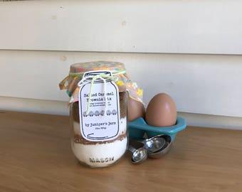 Salted Caramel Brownies Mix Jar