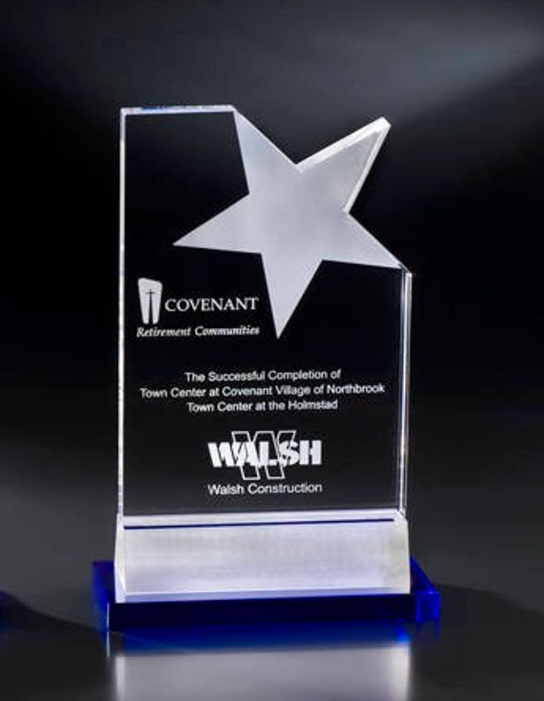 Crystal Oceana Star Recognition Award Engraved Personalized COCA609