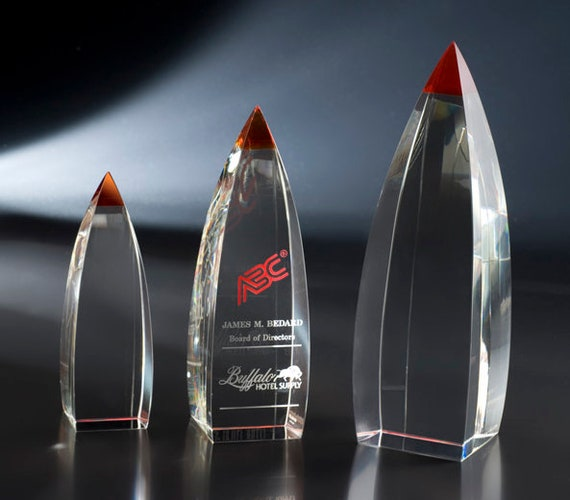 Crystal Aerial Recognition Award by Nik Meller Custom Engraved Personalized
