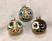 Hand painted character ornaments Homer Simpsons Peppa Pig Blippi Coraline Mavis Pinky Brain Dobby Gizmo Gollum The 100 Bob Ross Daniel Tiger