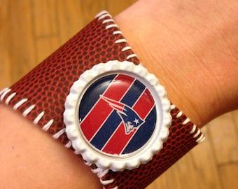 New England Patriots Football Bracelet
