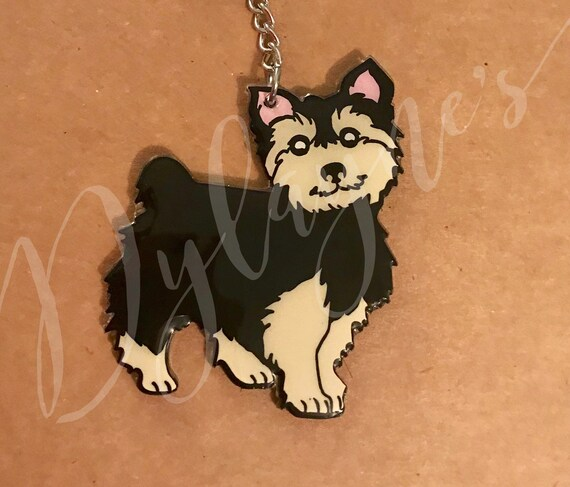 Yorkshire Terrier Yorkie Dog Pet Jacket Handbag Purse Zipper Pull Charm