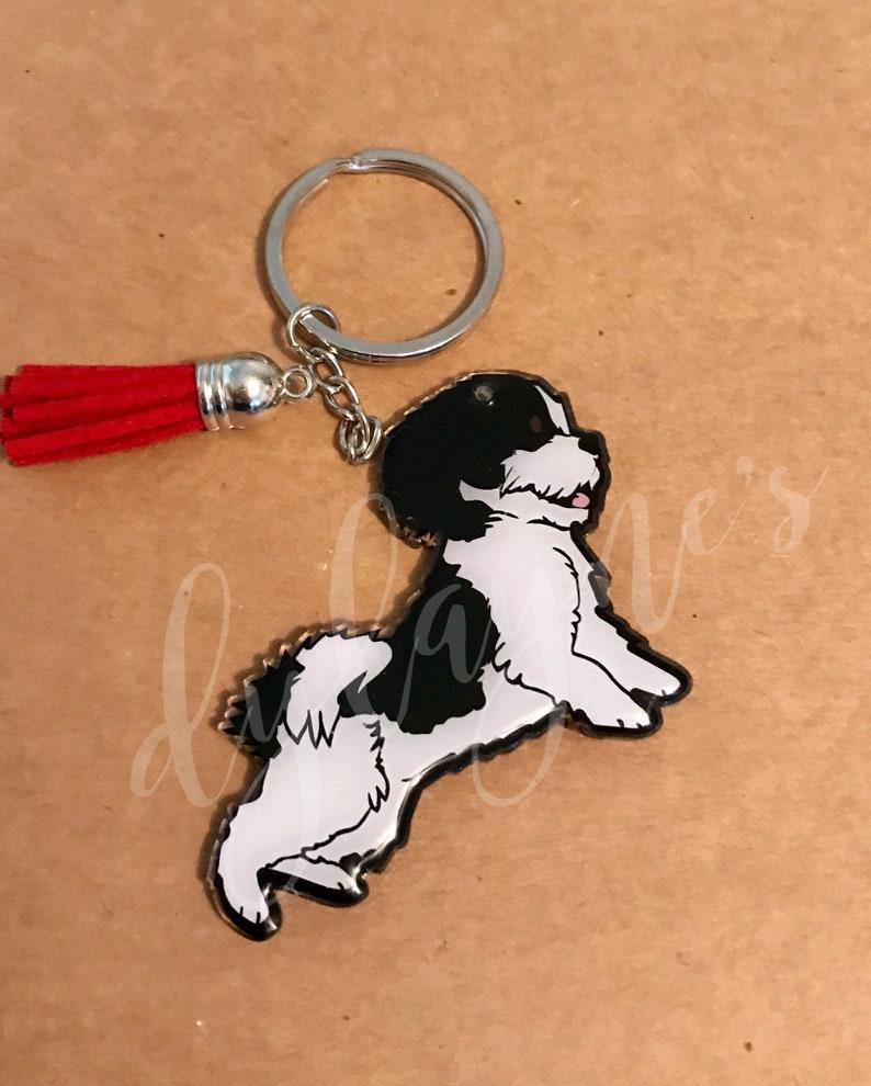 Shihtzu Custom Acrylic Keychain/Personalized Shihtzu Keychain/Shihtzu  Zipper Pull
