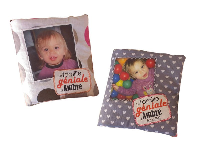 mOn livre doudou is a book in fabric with your photos. Send image 0