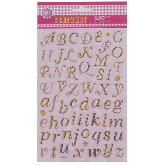 Kalligraphische Alphabet Buchstaben Aufkleber Formulierung Etsy