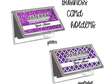 DoTerra Compliance Approved Business Card Holders, DoTera Business Card Holders, DoTerra Glitter Card Holder, doTERRA oils