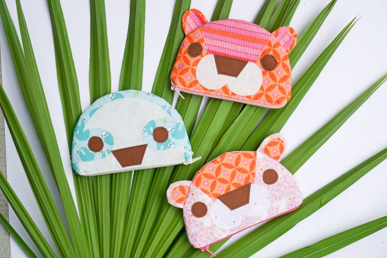 Jungle Animal Coin Purse PDF Pattern for Beginners image 0
