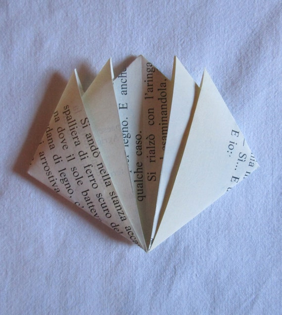 Cornerstone origami lotus flower created with recycled paper etsy image 0 mightylinksfo