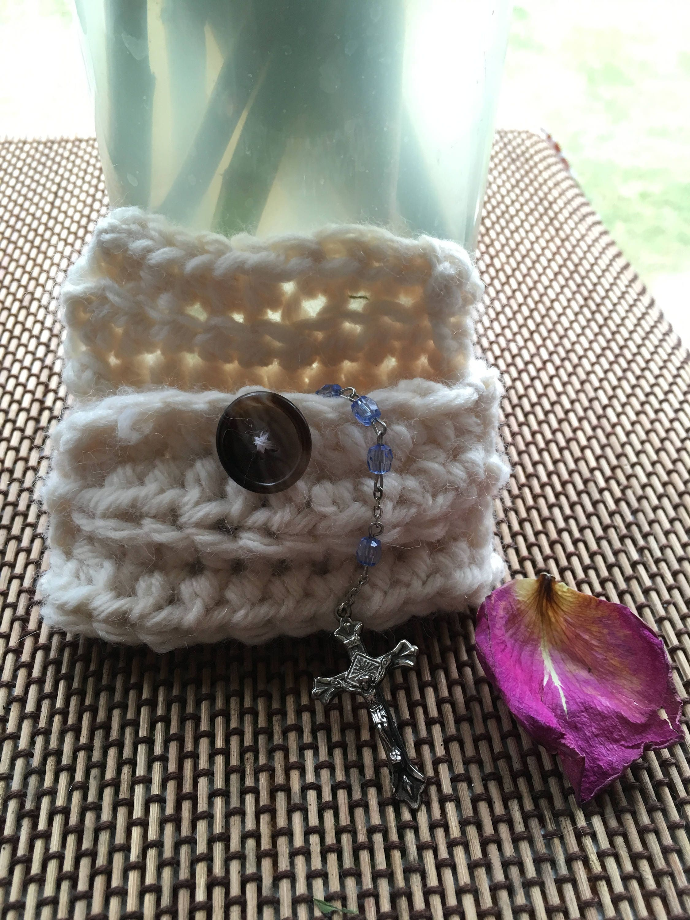 Small Crocheted Rosary Pouch Etsy