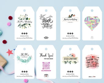 Custom Tags - Personalized Cardstock/Tags With Your Image, Logo, Design | Double-sided available