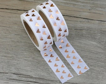 Gold Foil Hearts Washi Tape | 15 mm X 10 m