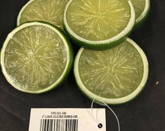 Artificial Lime Slices, Fake foods Vegetables