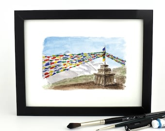The Tibetan Vibe is Strong Here - giclee print