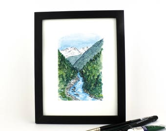 Mountain River - giclee print
